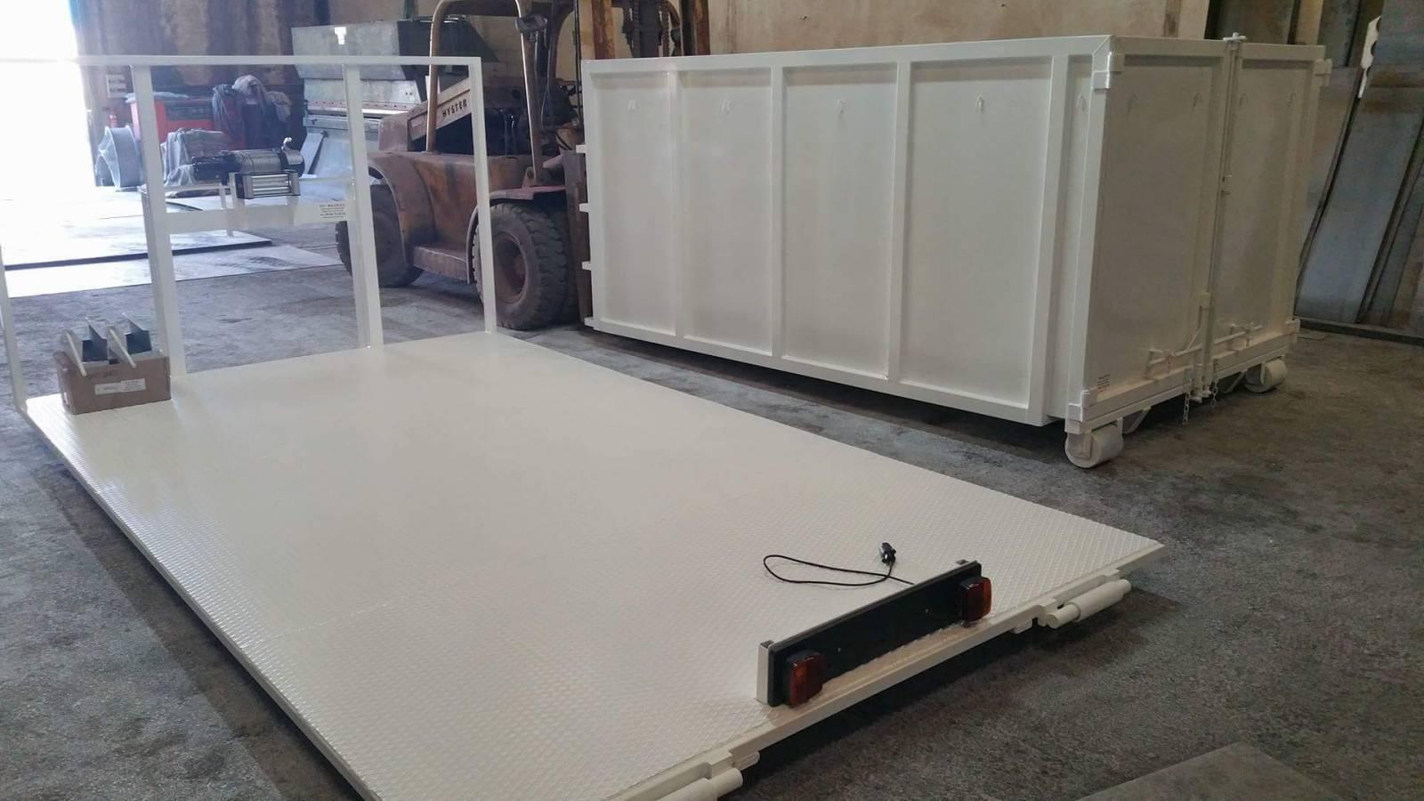 plateau ampliroll l ger pour transport fabrication de bennes amovibles sur mesure. Black Bedroom Furniture Sets. Home Design Ideas